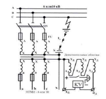Трансформатор НТМИ-6-66 6000-100В схема электрическая