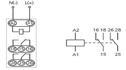 Реле времени ВЛ-155М1 - схема подключения