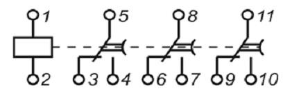 Реле времени ВЛ-81, ВЛ-82, ВЛ-83 схема подключения