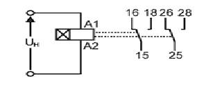 Реле ВЛ-163 схема подключения